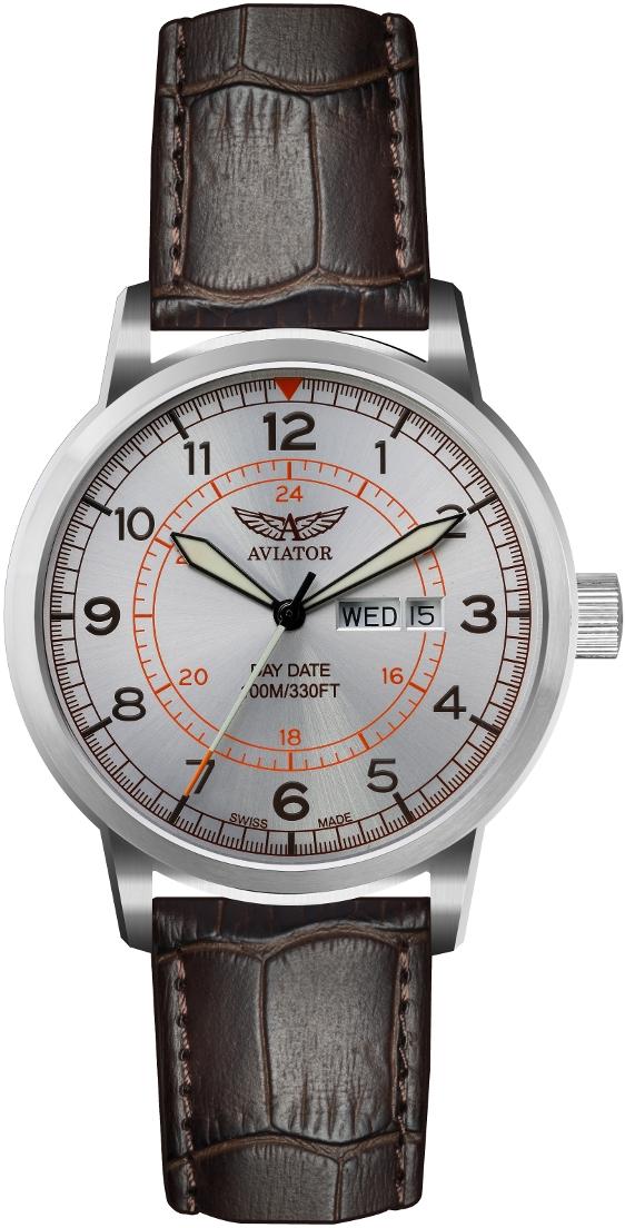 Aviator Kingcobra V.1.17.0.104.4Наручные часы<br>Швейцарские часы Aviator Kingcobra V.1.17.0.104.4<br><br>Пол: Мужские<br>Страна-производитель: Швейцария<br>Механизм: Кварцевый<br>Материал корпуса: Сталь<br>Материал ремня/браслета: Кожа<br>Водозащита, диапазон: 100 - 150 м<br>Стекло: Сапфировое<br>Толщина корпуса: 12 мм<br>Стиль: Классика
