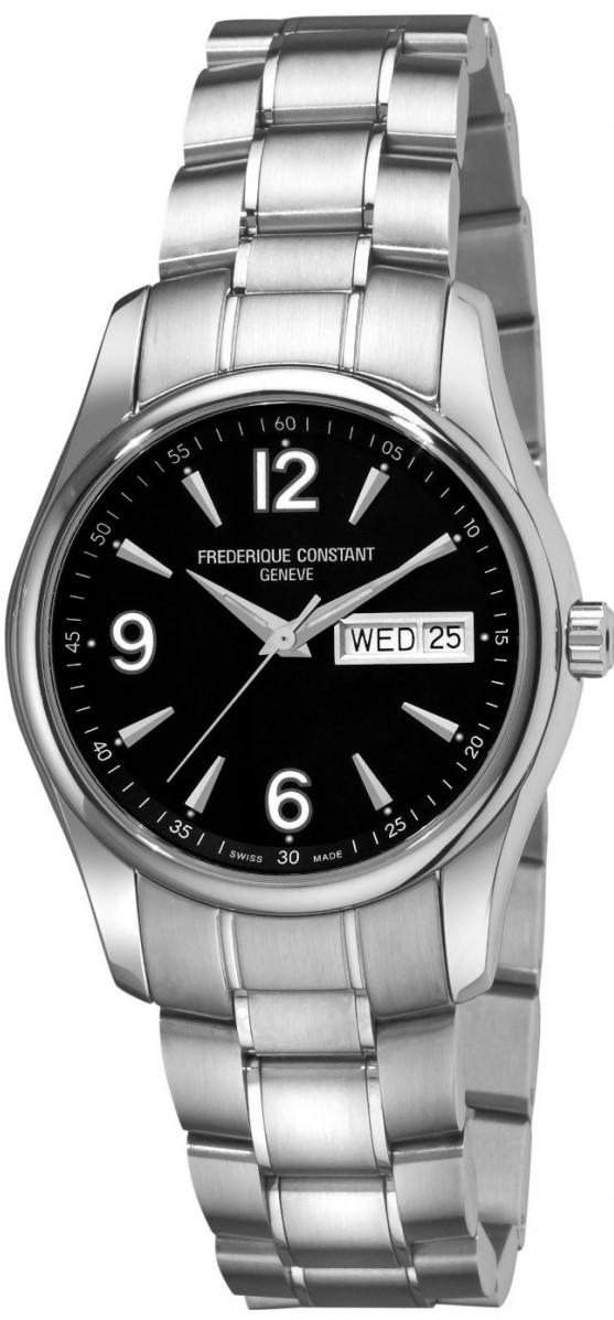 Frederique Constant Junior FC-242B4B26BНаручные часы<br>Швейцарские часы Frederique Constant Junior FC-242B4B26BЧасы принадежат коллекции Junior. Это стильные мужские часы. Материал корпуса часов &amp;mdash; сталь. В этой модели стоит сапфировое стекло. Водозащита - 60 м. Основной цвет циферблата черный. Диаметр корпуса 39мм.<br><br>Пол: Мужские<br>Страна-производитель: Швейцария<br>Механизм: Кварцевый<br>Материал корпуса: Сталь<br>Материал ремня/браслета: Сталь<br>Водозащита, диапазон: 20 - 100 м<br>Стекло: Сапфировое<br>Толщина корпуса: None<br>Стиль: Классика
