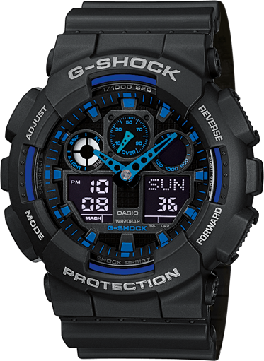 Купить Японские часы Casio G-shock GA-100-1A2
