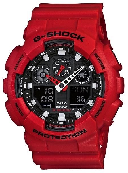 Casio G-shock G-Classic GA-100B-4AНаручные часы<br>Японские часы Casio G-shock G-Classic GA-100B-4A<br><br>Пол: Мужские<br>Страна-производитель: Япония<br>Механизм: Кварцевый<br>Материал корпуса: Пластик<br>Материал ремня/браслета: Пластик<br>Водозащита, диапазон: None<br>Стекло: Минеральное<br>Толщина корпуса: 16,9 мм<br>Стиль: None