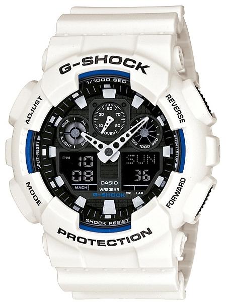 Casio G-shock G-Classic GA-100B-7AНаручные часы<br>Японские часы Casio G-shock G-Classic GA-100B-7A<br><br>Пол: Мужские<br>Страна-производитель: Япония<br>Механизм: Кварцевый<br>Материал корпуса: Пластик<br>Материал ремня/браслета: Пластик<br>Водозащита, диапазон: None<br>Стекло: Минеральное<br>Толщина корпуса: 16,9 мм<br>Стиль: None