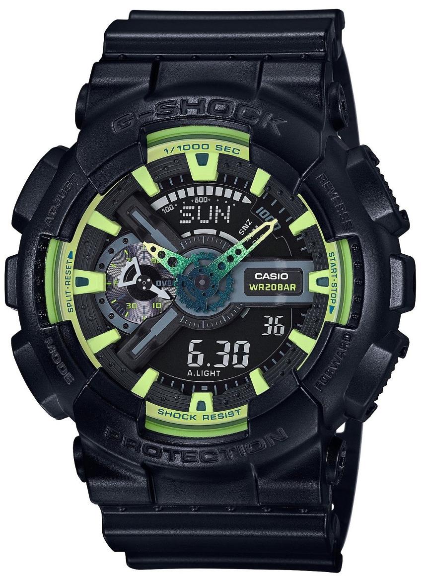Casio G-shock GA-110LY-1AНаручные часы<br>Японские часы Casio G-shock GA-110LY-1A<br><br>Пол: Мужские<br>Страна-производитель: Япония<br>Механизм: Кварцевый<br>Материал корпуса: Пластик<br>Материал ремня/браслета: Каучук<br>Водозащита, диапазон: None<br>Стекло: Минеральное<br>Толщина корпуса: 16,9 мм<br>Стиль: None