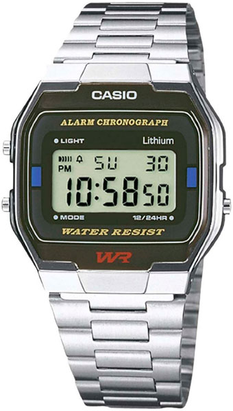 Японские часы Casio A-163WA-1  - купить со скидкой