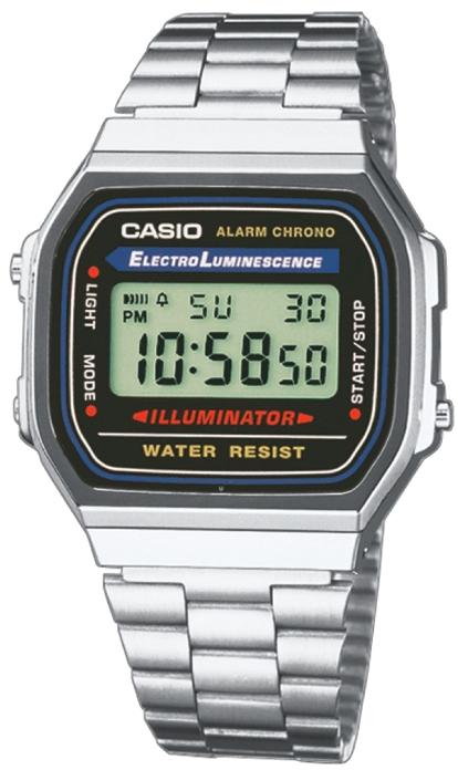Японские часы Casio A-168WA-1  - купить со скидкой
