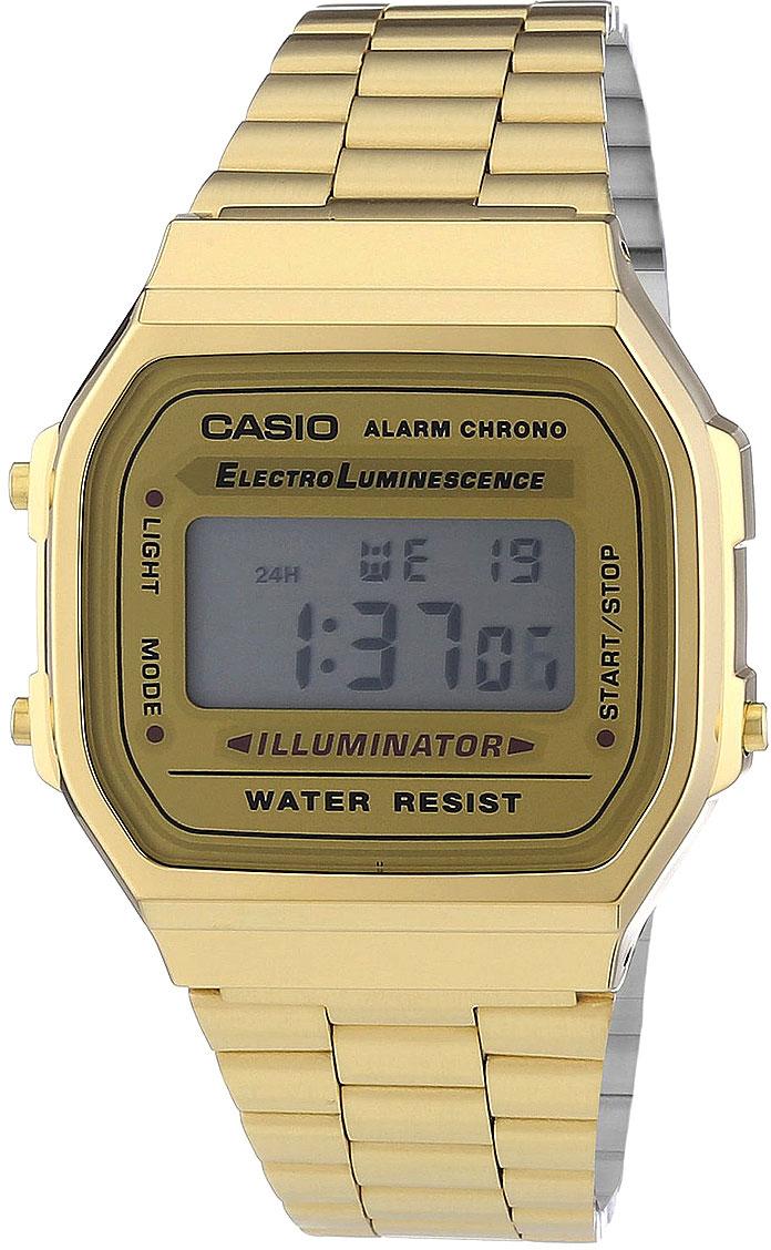 Японские часы Casio A-168WG-9  - купить со скидкой