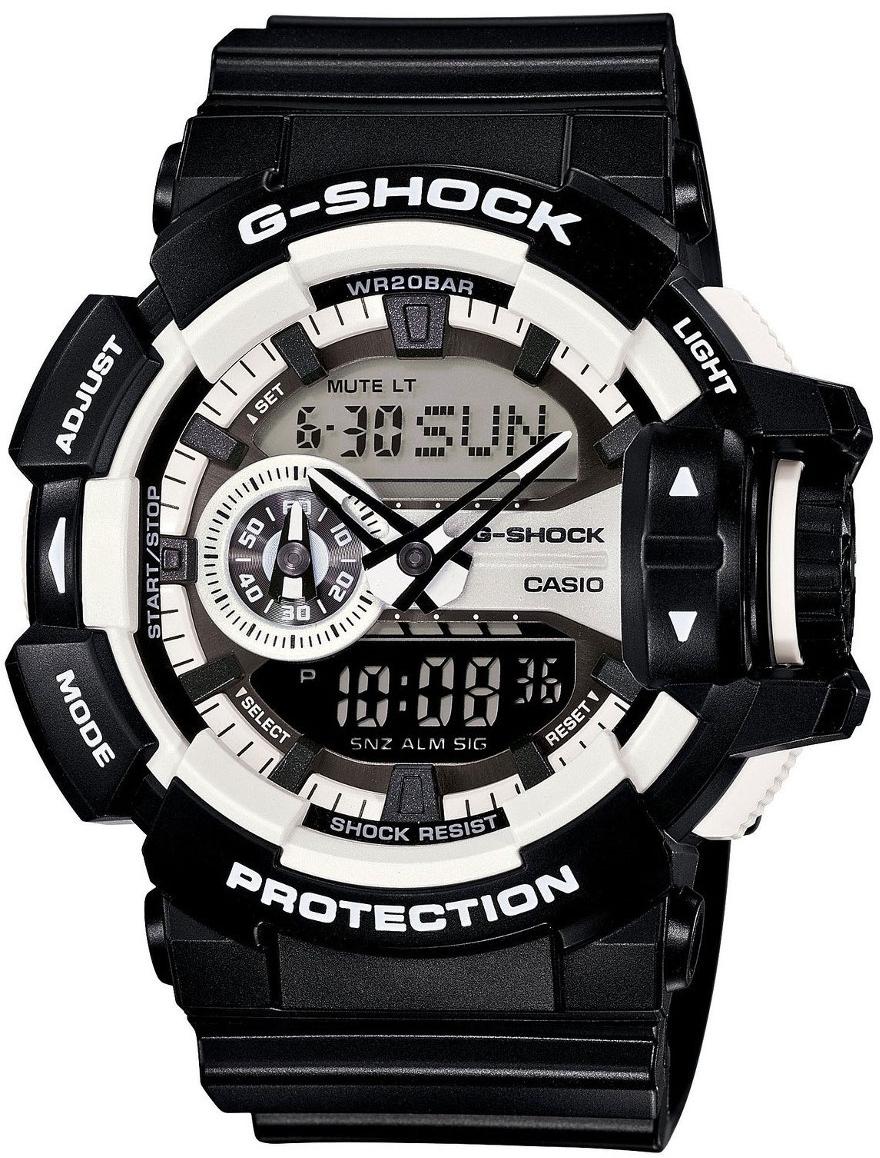 Casio G-shock G-Specials GA-400-1AНаручные часы<br>Японские часы Casio G-shock G-Specials GA-400-1A<br><br>Пол: Мужские<br>Страна-производитель: Япония<br>Механизм: Кварцевый<br>Материал корпуса: Пластик<br>Материал ремня/браслета: Каучук<br>Водозащита, диапазон: None<br>Стекло: Минеральное<br>Толщина корпуса: 18,3 мм<br>Стиль: None