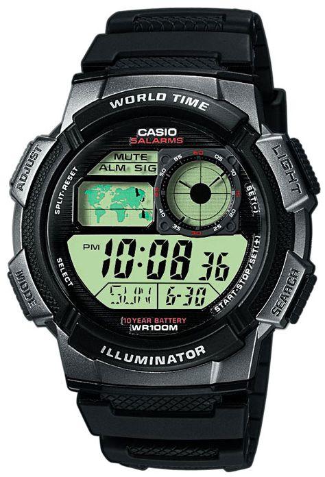 Японские часы Casio AE-1000W-1B  - купить со скидкой
