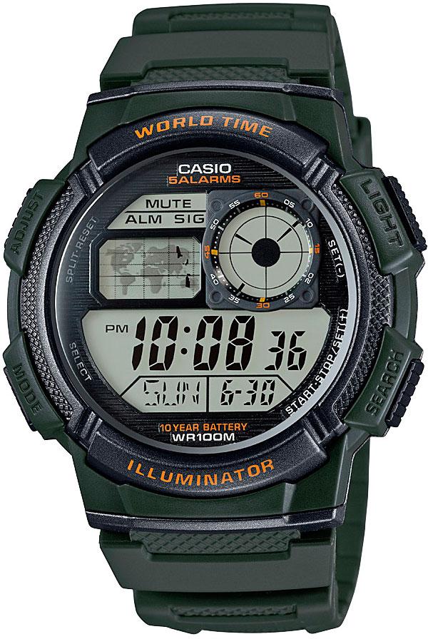 Японские часы Casio AE-1000W-3A  - купить со скидкой