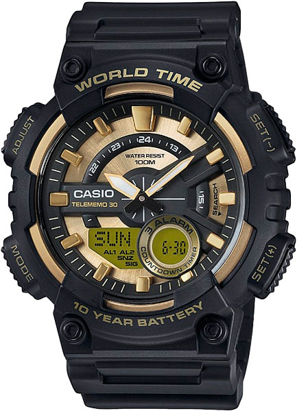 Купить Японские часы Casio AEQ-110BW-9A