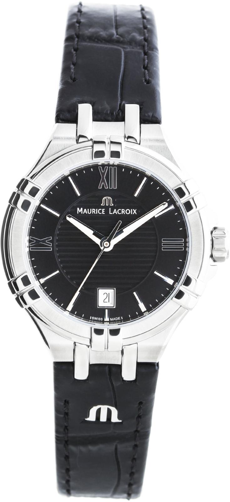 Maurice Lacroix Aikon AI1004-SS001-330-1Наручные часы<br>Швейцарские часы Maurice Lacroix Aikon AI1004-SS001-330-1<br><br>Пол: Женские<br>Страна-производитель: Швейцария<br>Механизм: Кварцевый<br>Материал корпуса: Сталь<br>Материал ремня/браслета: Кожа<br>Водозащита, диапазон: None<br>Стекло: Сапфировое<br>Толщина корпуса: None<br>Стиль: None