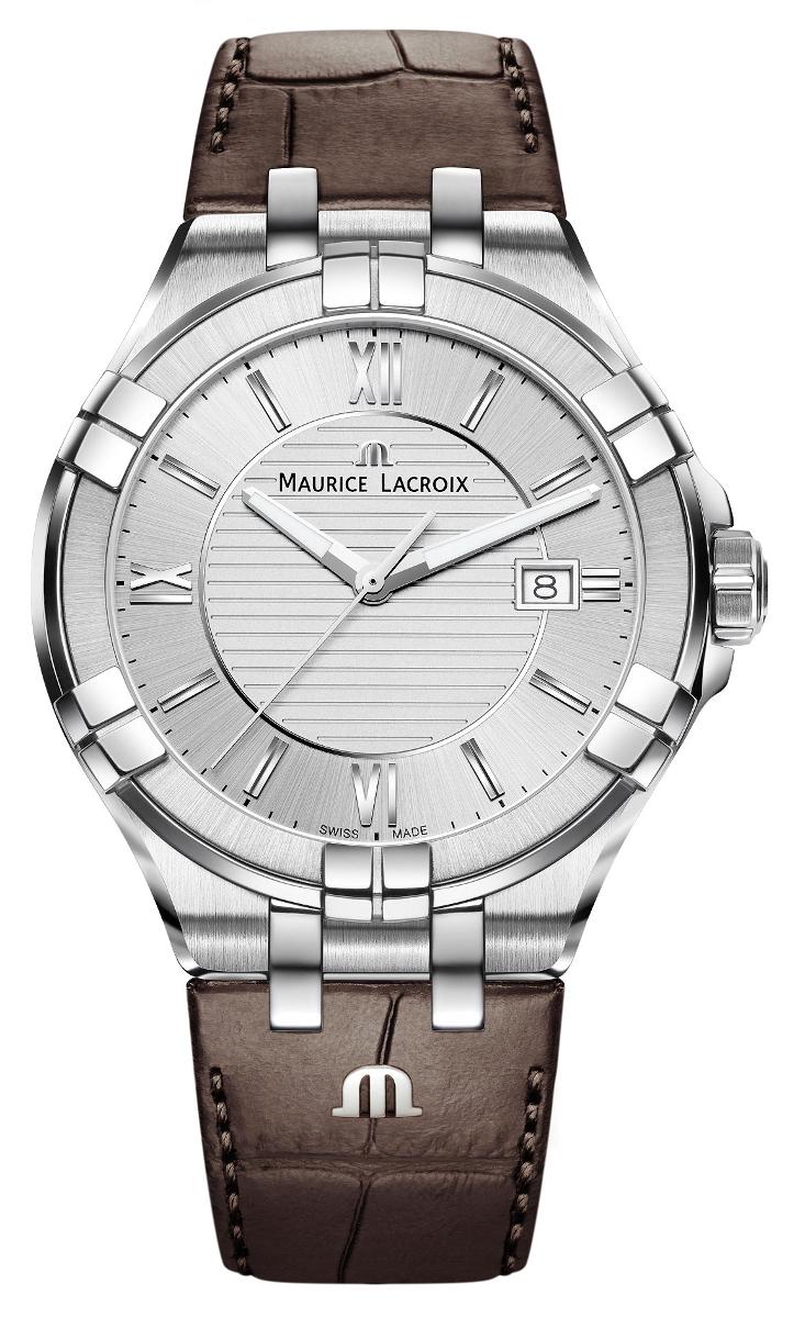 Maurice Lacroix Aikon AI1008-SS001-130-1Наручные часы<br>Швейцарские часы Maurice Lacroix Aikon AI1008-SS001-130-1<br><br>Для кого?: Мужские<br>Страна-производитель: Швейцария<br>Механизм: Кварцевый<br>Материал корпуса: Сталь<br>Материал ремня/браслета: Кожа<br>Водозащита, диапазон: None<br>Стекло: Сапфировое<br>Толщина корпуса: None<br>Стиль: None