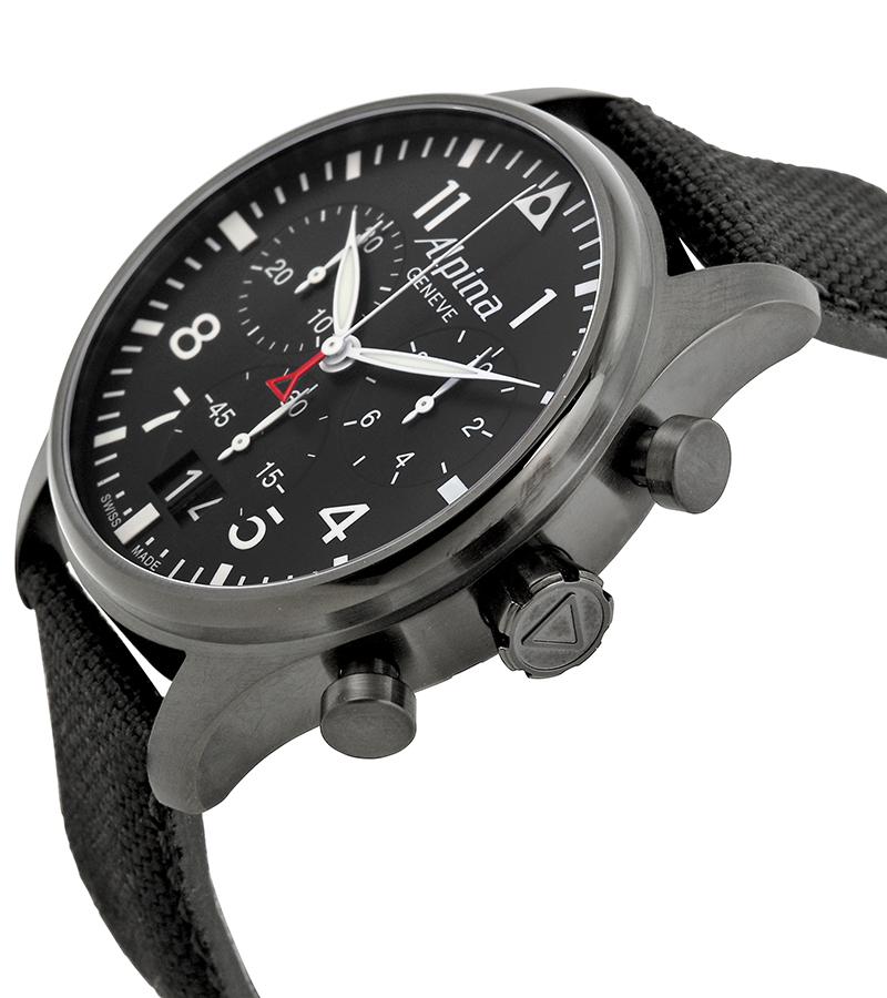 Alpina Startimer AL-372B4FBS6Наручные часы<br>Швейцарские часы Alpina Startimer AL-372B4FBS6<br><br>Пол: Мужские<br>Страна-производитель: Швейцария<br>Механизм: Кварцевый<br>Материал корпуса: Сталь<br>Материал ремня/браслета: Текстиль<br>Водозащита, диапазон: None<br>Стекло: Сапфировое<br>Толщина корпуса: 13 мм<br>Стиль: None