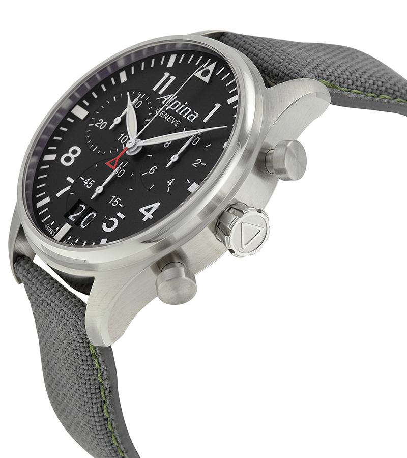Alpina AL-372B4S6Наручные часы<br>Швейцарские часыAlpinaStartimer Pilot Big Date AL-372B4S6<br><br>Пол: Мужские<br>Страна-производитель: Швейцария<br>Механизм: Кварцевый<br>Материал корпуса: Сталь<br>Материал ремня/браслета: Текстиль<br>Водозащита, диапазон: 20 - 100 м<br>Стекло: Сапфировое<br>Толщина корпуса: None<br>Стиль: Классика