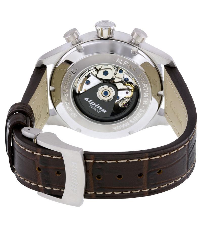 Alpina Startimer AL-860SCR4S6Наручные часы<br>Швейцарские часы AlpinaStartimer Classics ChronographAL-860SCR4S6<br><br>Пол: Мужские<br>Страна-производитель: Швейцария<br>Механизм: Механический<br>Материал корпуса: Сталь<br>Материал ремня/браслета: Кожа<br>Водозащита, диапазон: 20 - 100 м<br>Стекло: Сапфировое<br>Толщина корпуса: None<br>Стиль: Классика