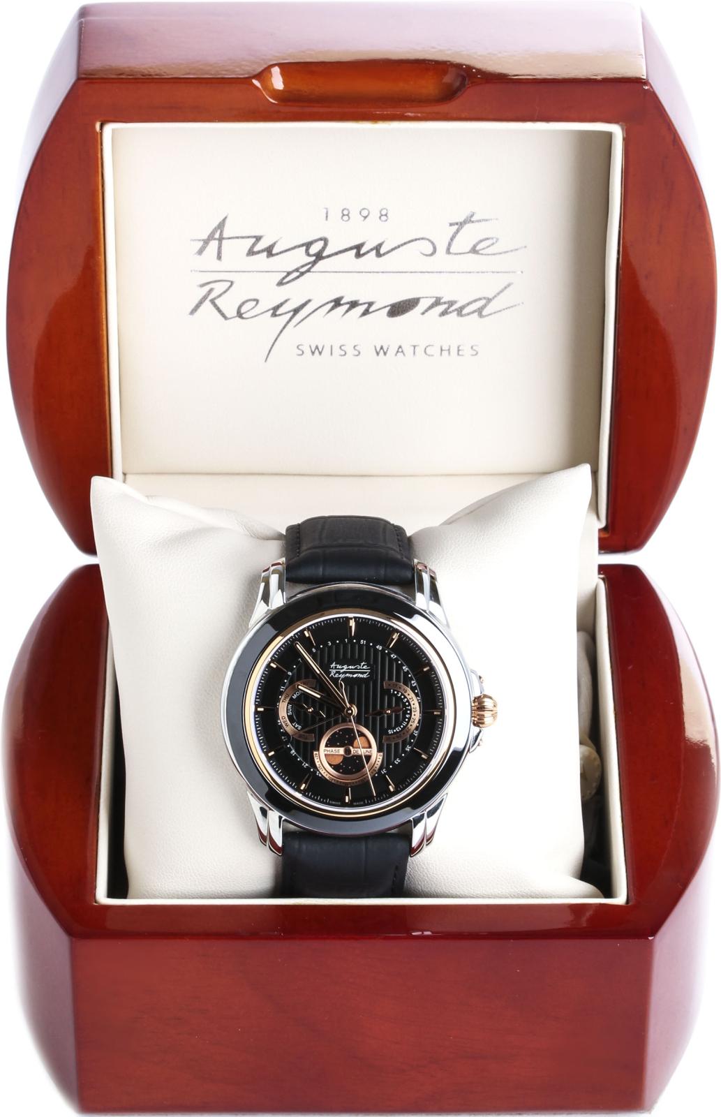 Auguste Reymond AR7689.3.210.5Наручные часы<br>Швейцарские часы&amp;nbsp;Auguste Reymond&amp;nbsp;Magellan Lunar &amp;nbsp;AR7689.3.210.5<br><br>Пол: Мужские<br>Страна-производитель: Швейцария<br>Механизм: Кварцевый<br>Материал корпуса: Сталь<br>Материал ремня/браслета: Кожа<br>Водозащита, диапазон: 20 - 100 м<br>Стекло: Сапфировое<br>Толщина корпуса: 11 мм<br>Стиль: Мода