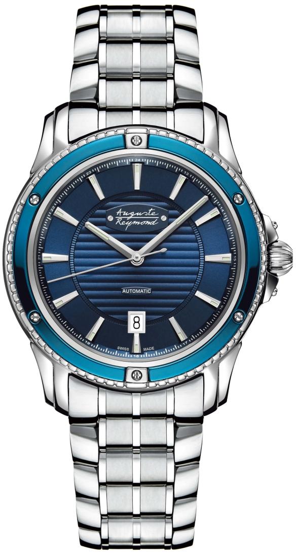 Auguste Reymond AR76E6.3.710.6Наручные часы<br>Швейцарские часыAuguste ReymondMagellanAR76E6.3.710.6<br><br>Для кого?: Мужские<br>Страна-производитель: Швейцария<br>Механизм: Механический<br>Материал корпуса: Сталь<br>Материал ремня/браслета: Кожа<br>Водозащита, диапазон: 20 - 100 м<br>Стекло: Сапфировое<br>Толщина корпуса: 10,4 мм<br>Стиль: Мода