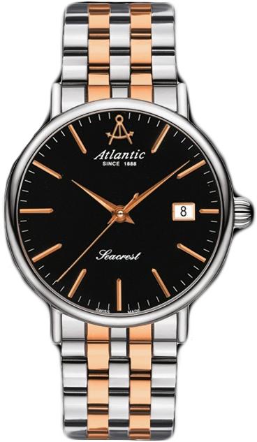 Atlantic Seacrest 10356.43.61RНаручные часы<br>Швейцарские часы Atlantic Seacrest 10356.43.61R<br><br>Для кого?: Женские<br>Страна-производитель: Швейцария<br>Механизм: Кварцевый<br>Материал корпуса: Сталь<br>Материал ремня/браслета: Сталь<br>Водозащита, диапазон: 20 - 100 м<br>Стекло: Сапфировое<br>Толщина корпуса: 7 мм<br>Стиль: Классика