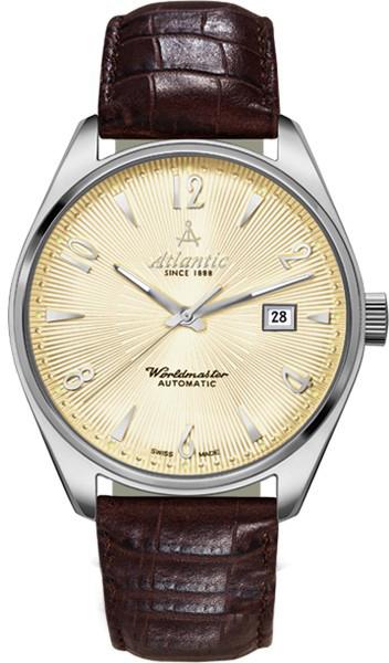 Atlantic Worldmaster 11750.41.35SНаручные часы<br>Швейцарские часы Atlantic Worldmaster 11750.41.35S<br><br>Для кого?: Женские<br>Страна-производитель: Швейцария<br>Механизм: Механический<br>Материал корпуса: Сталь<br>Материал ремня/браслета: Кожа<br>Водозащита, диапазон: 20 - 100 м<br>Стекло: Сапфировое<br>Толщина корпуса: None<br>Стиль: Классика
