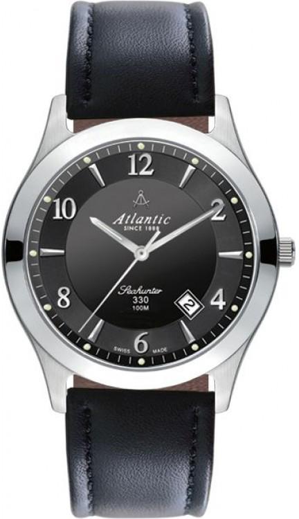 Atlantic Seahunter  31360.41.65Наручные часы<br>Швейцарские часы Atlantic Seahunter 31360.41.65<br><br>Для кого?: Женские<br>Страна-производитель: Швейцария<br>Механизм: Кварцевый<br>Материал корпуса: Сталь<br>Материал ремня/браслета: Кожа<br>Водозащита, диапазон: 100 - 150 м<br>Стекло: Сапфировое<br>Толщина корпуса: 7 мм<br>Стиль: Классика