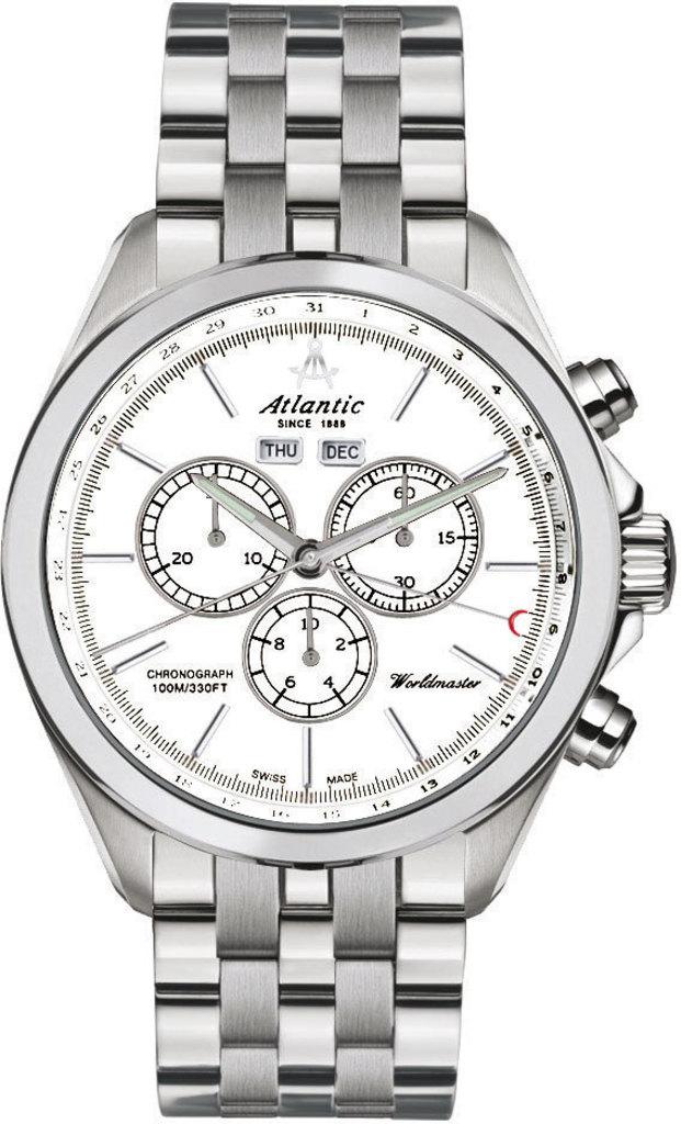Atlantic Worldmaster 55466.41.21Наручные часы<br>Швейцарские часы Atlantic Worldmaster 55466.41.21<br><br>Для кого?: Мужские<br>Страна-производитель: Швейцария<br>Механизм: Кварцевый<br>Материал корпуса: Сталь<br>Материал ремня/браслета: Сталь<br>Водозащита, диапазон: 100 - 150 м<br>Стекло: Сапфировое<br>Толщина корпуса: None<br>Стиль: Классика