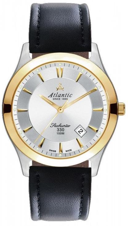 Atlantic Seahunter 71360.43.21GНаручные часы<br>Швейцарские часы Atlantic Seahunter 71360.43.21G<br><br>Для кого?: Мужские<br>Страна-производитель: Швейцария<br>Механизм: Кварцевый<br>Материал корпуса: Сталь<br>Материал ремня/браслета: Кожа<br>Водозащита, диапазон: 100 - 150 м<br>Стекло: Сапфировое<br>Толщина корпуса: None<br>Стиль: Классика