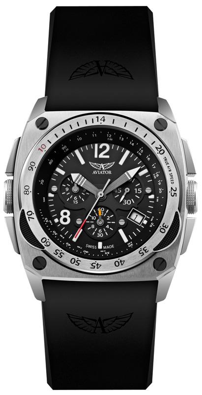 Aviator MIG-29 Cockpit Chrono M.2.04.0.009.6Наручные часы<br>Швейцарские часы Aviator MIG-29 Cockpit Chrono M.2.04.0.009.6Данная модель — яркий представитель коллекции MIG-29 Cockpit Chrono. Это модные Мужские часы. Материал корпуса часов — Сталь. Ремень — Каучук. В этой модели стоит Сапфировое стекло. Водозащита - 100 м. Цвет циферблата - Черный. Циферблат часов содержит часы, минуты, секунды. В этой модели используются такие усложнения как дата, будильник, хронограф. Часы обладают корпусом 45мм.<br><br>Пол: Мужские<br>Страна-производитель: Швейцария<br>Механизм: Кварцевый<br>Материал корпуса: Сталь<br>Материал ремня/браслета: Каучук<br>Водозащита, диапазон: 100 - 150 м<br>Стекло: Сапфировое<br>Толщина корпуса: None<br>Стиль: Спорт