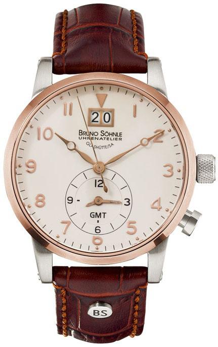Bruno Sohnle Milano 17-63043-525Наручные часы<br>Немецкие часы Bruno Sohnle Milano 17-63043-525<br><br>Для кого?: Мужские<br>Страна-производитель: Германия<br>Механизм: Кварцевый<br>Материал корпуса: Сталь<br>Материал ремня/браслета: Кожа<br>Водозащита, диапазон: 100 - 150 м<br>Стекло: Сапфировое<br>Толщина корпуса: 12 мм<br>Стиль: Классика