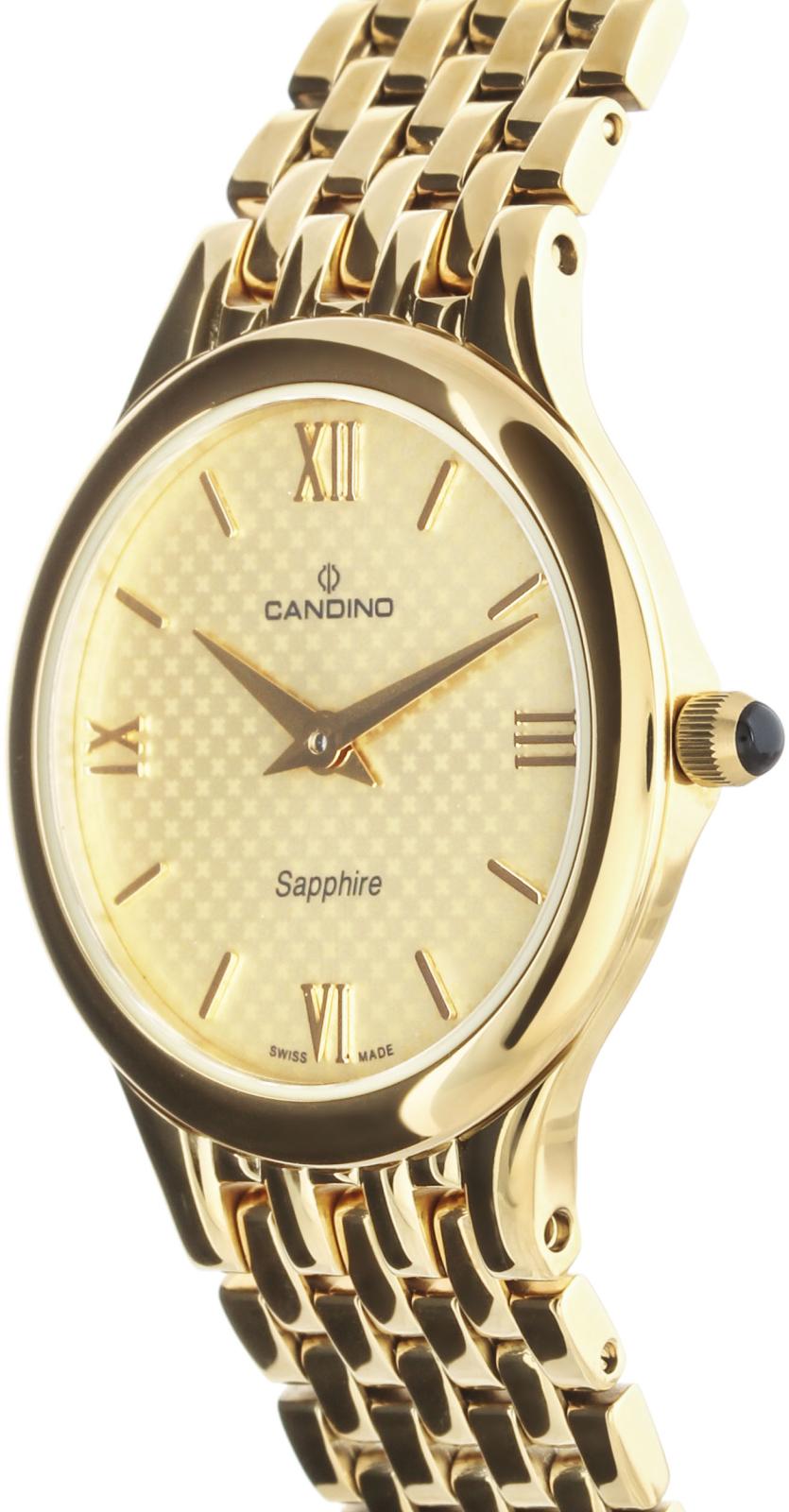 Candino Elegance C4365/3Наручные часы<br>Швейцарские часы Candino Elegance C4365/3Данная модель входит в коллекцию Elegance. Это женские часы. Материал корпуса часов &amp;mdash; сталь+золото. В этих часах используется сапфировое стекло. Водозащита этой модели 30 м. Цвет циферблата - золотистый. Циферблат часов содержит часы, минуты. Диаметр корпуса часов составляет 27мм.<br><br>Пол: Женские<br>Страна-производитель: Швейцария<br>Механизм: Кварцевый<br>Материал корпуса: Сталь+Золото<br>Материал ремня/браслета: Сталь+Золото<br>Водозащита, диапазон: 20 - 100 м<br>Стекло: Сапфировое<br>Толщина корпуса: None<br>Стиль: Классика