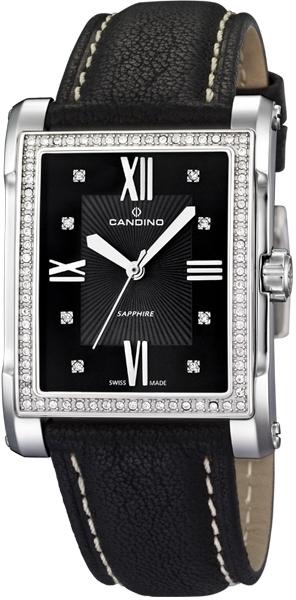 Candino Elegance C4437/5Наручные часы<br>Швейцарские часы Candino Elegance C4437/5<br><br>Пол: Женские<br>Страна-производитель: Швейцария<br>Механизм: Кварцевый<br>Материал корпуса: Сталь<br>Материал ремня/браслета: Кожа<br>Водозащита, диапазон: 20 - 100 м<br>Стекло: Сапфировое<br>Толщина корпуса: 9 мм<br>Стиль: Классика