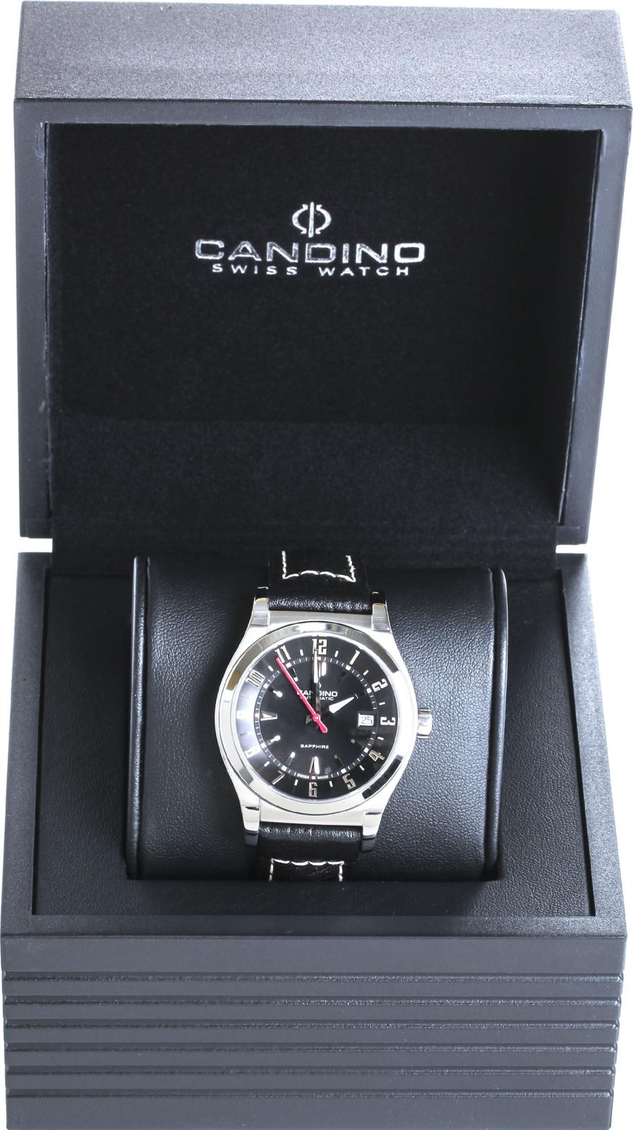 Candino Street Rider C4441/5Наручные часы<br>Швейцарские часы Candino Street Rider C4441/5Данная модель &amp;mdash; яркий представитель коллекции Street Rider. Это великолепные мужские часы. Материал корпуса часов &amp;mdash; сталь. Циферблат часов защищает сапфировое стекло. Водозащита - 100 м.<br><br>Пол: Мужские<br>Страна-производитель: Швейцария<br>Механизм: Механический<br>Материал корпуса: Сталь<br>Материал ремня/браслета: Кожа<br>Водозащита, диапазон: 100 - 150 м<br>Стекло: Сапфировое<br>Толщина корпуса: None<br>Стиль: None