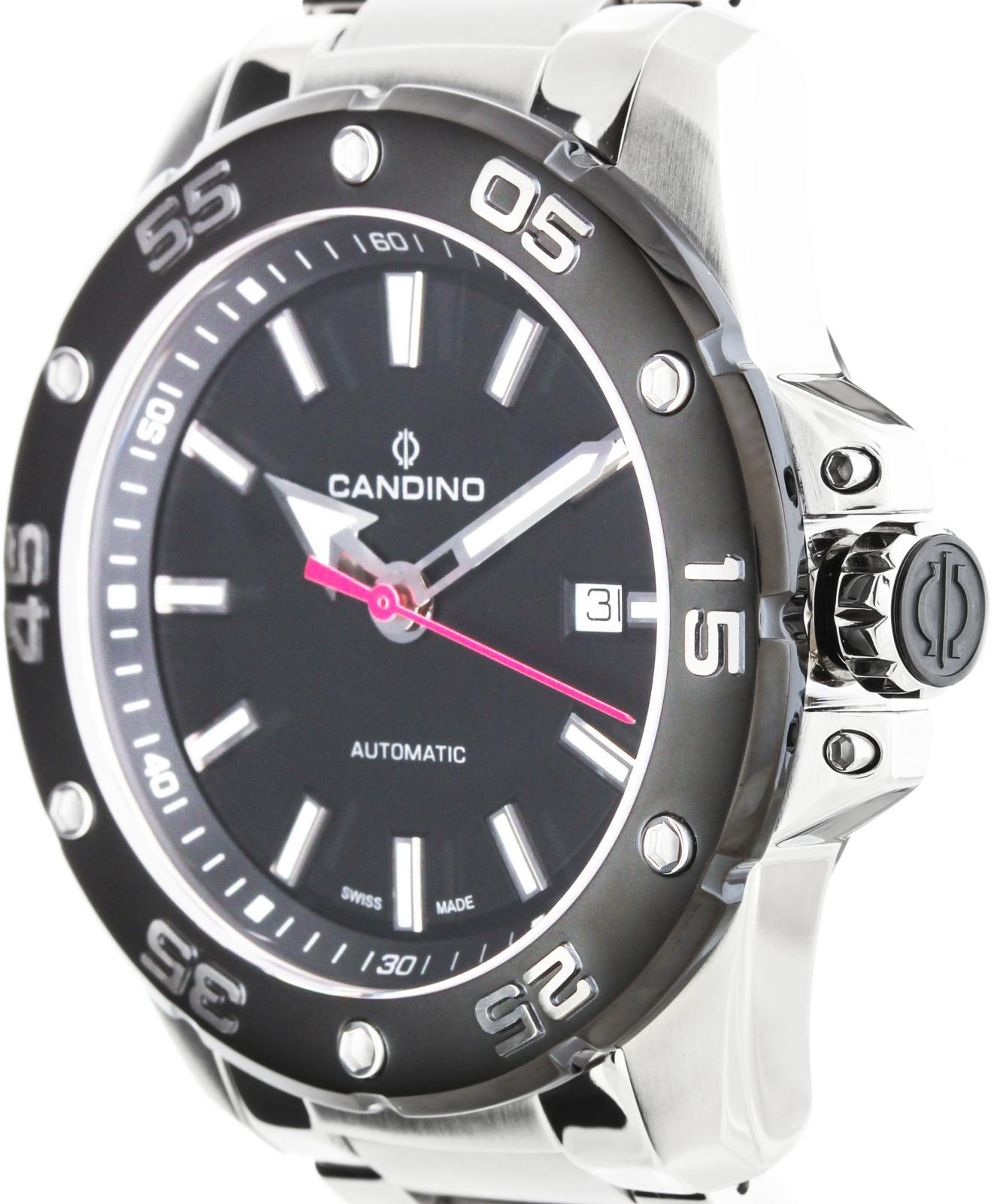 Candino Sport C4452/3Наручные часы<br>Швейцарские часы Candino Sport C4452/3<br><br>Пол: Мужские<br>Страна-производитель: Швейцария<br>Механизм: Механический<br>Материал корпуса: Сталь<br>Материал ремня/браслета: Сталь<br>Водозащита, диапазон: 100 - 150 м<br>Стекло: Сапфировое<br>Толщина корпуса: None<br>Стиль: Классика