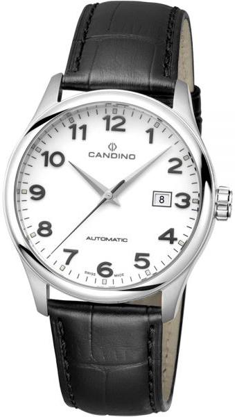 Candino Classic C4458/1Наручные часы<br>Швейцарские часы Candino Classic C4458/1<br><br>Пол: Мужские<br>Страна-производитель: Швейцария<br>Механизм: Механический<br>Материал корпуса: Сталь<br>Материал ремня/браслета: Кожа<br>Водозащита, диапазон: 100 - 150 м<br>Стекло: Сапфировое<br>Толщина корпуса: None<br>Стиль: Классика