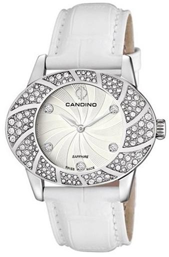 Candino Elegance C4466/1Наручные часы<br>Швейцарские часы Candino Elegance C4466/1Данная модель входит в коллекцию Elegance. Это модные женские часы. Материал корпуса часов — сталь. В этой модели стоит сапфировое стекло. Часы этой модели обладают водозащитой 50 м. Основной цвет циферблата серебристый. Циферблат модели содержит часы, минуты. В этих часах используются такие усложнения как дата, . Размер данной модели 39х30мм.<br><br>Пол: Женские<br>Страна-производитель: None<br>Механизм: Кварцевый<br>Материал корпуса: Сталь<br>Материал ремня/браслета: Кожа<br>Водозащита, диапазон: None<br>Стекло: Сапфировое<br>Толщина корпуса: None<br>Стиль: Классика