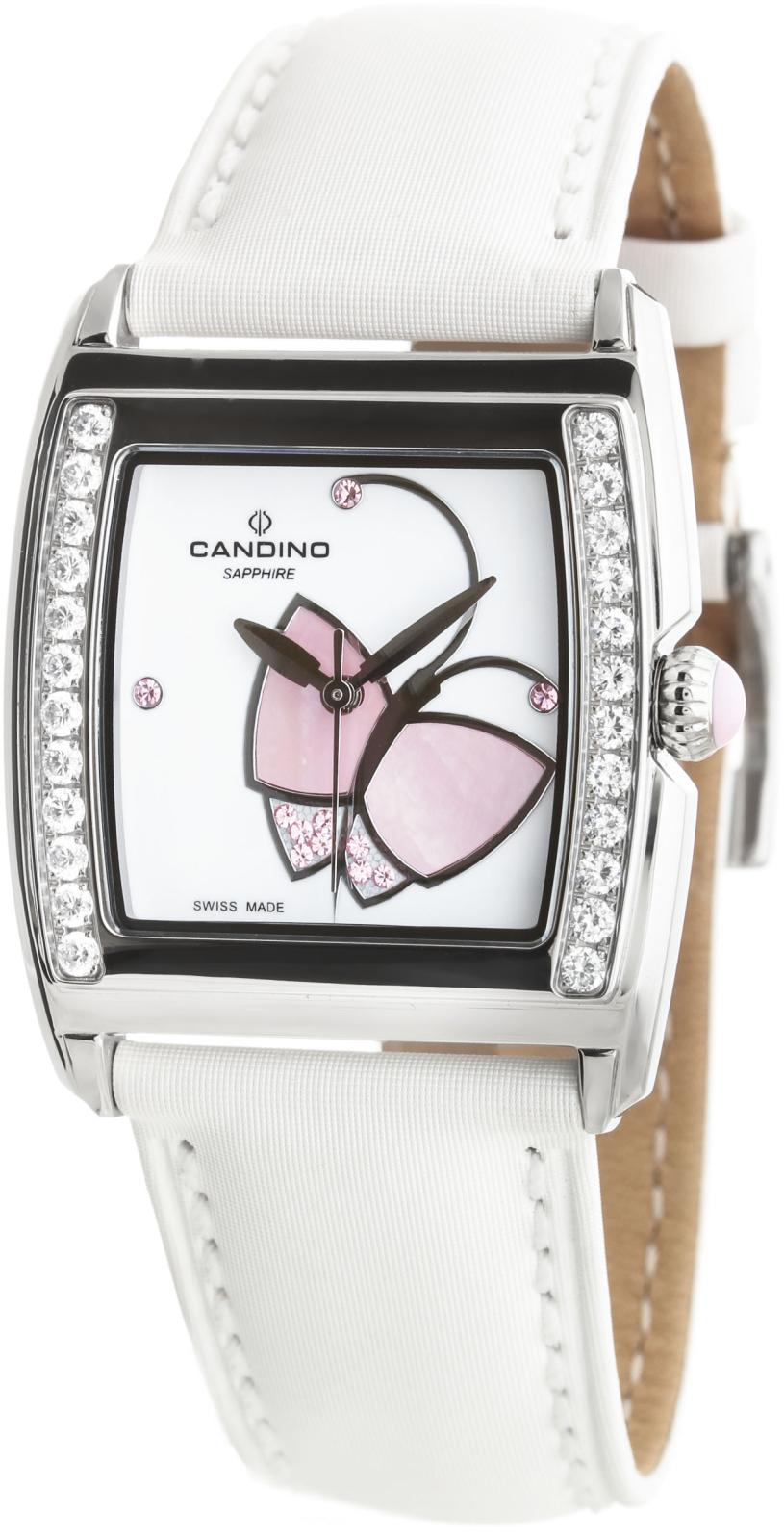 Candino Elegance C4469/2Наручные часы<br>Швейцарские часы Candino Elegance C4469/2Часы принадежат коллекции Elegance. Это великолепные женские часы. Материал корпуса часов — сталь. Стекло - сапфировое. Часы выдерживают давление на глубине 50 м. Цвет циферблата - белый. Циферблат часов содержит часы, минуты, секунды. Часы обладают корпусом 32x32мм.<br><br>Пол: Женские<br>Страна-производитель: Швейцария<br>Механизм: Кварцевый<br>Материал корпуса: Сталь<br>Материал ремня/браслета: Текстиль<br>Водозащита, диапазон: 20 - 100 м<br>Стекло: Сапфировое<br>Толщина корпуса: None<br>Стиль: Классика