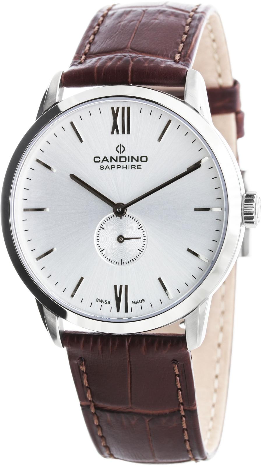 Candino Classic C4470/2Наручные часы<br>Швейцарские часы Candino Classic C4470/2<br><br>Пол: Мужские<br>Страна-производитель: Швейцария<br>Механизм: Кварцевый<br>Материал корпуса: Сталь<br>Материал ремня/браслета: Кожа<br>Водозащита, диапазон: 20 - 100 м<br>Стекло: Сапфировое<br>Толщина корпуса: 8 мм<br>Стиль: Классика