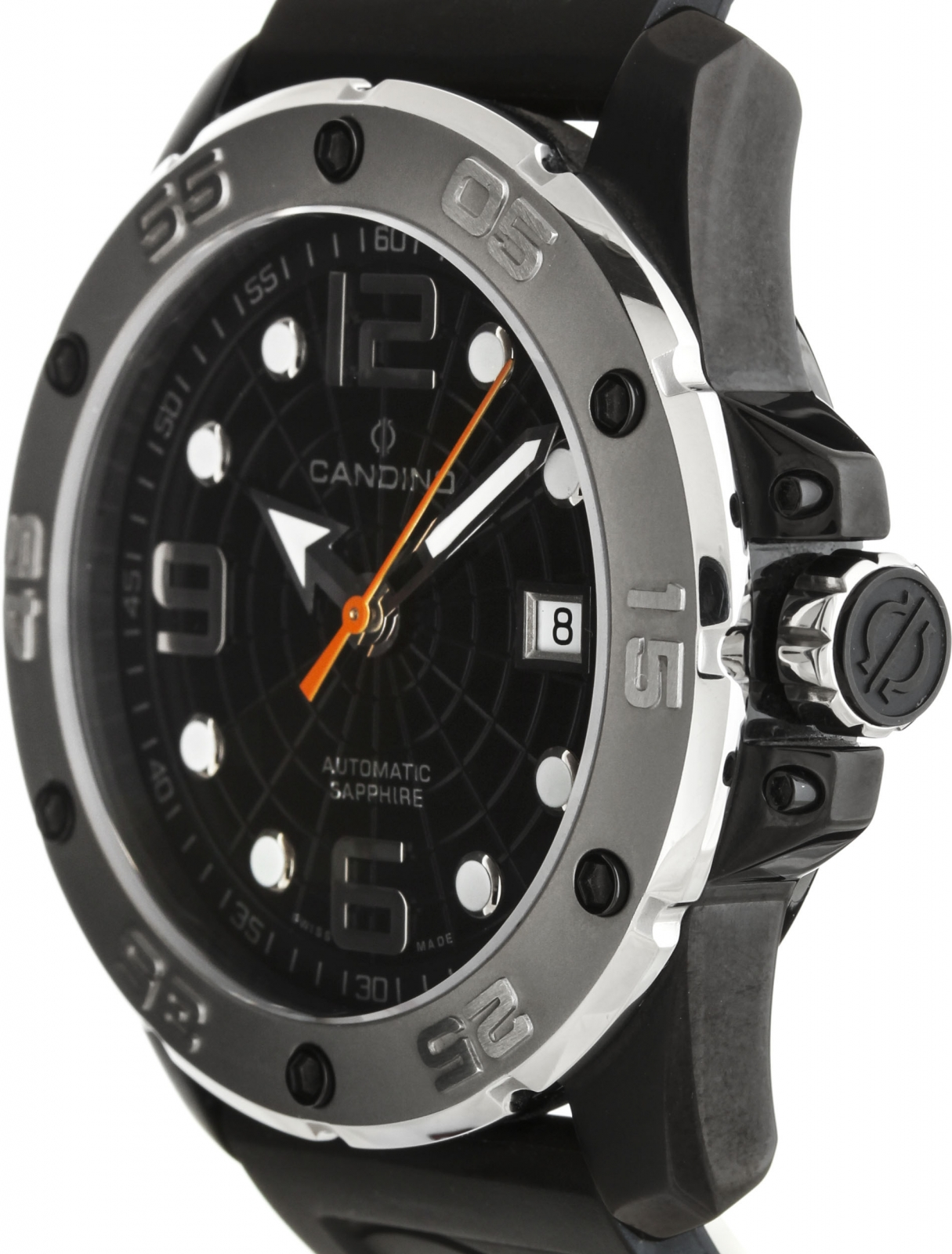 Candino Planet Solar  C4474/3Наручные часы<br>Швейцарские часы Candino Planet Solar C4474/3Представленная модель входит в коллекцию Planet Solar . Это модные мужские часы. Материал корпуса часов — сталь. В этих часах используется сапфировое стекло. Водозащита этих часов 200 м.<br><br>Пол: Мужские<br>Страна-производитель: Швейцария<br>Механизм: Механический<br>Материал корпуса: Сталь<br>Материал ремня/браслета: Каучук<br>Водозащита, диапазон: 200 - 800 м<br>Стекло: Сапфировое<br>Толщина корпуса: None<br>Стиль: None