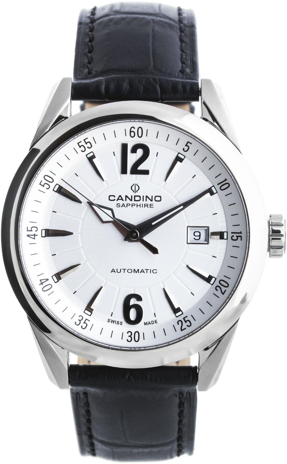 Candino Tradition C4479/1Наручные часы<br>Швейцарские часы Candino Tradition C4479/1Модель входит в коллекцию Tradition. Это настоящие мужские часы. Материал корпуса часов — сталь. Циферблат часов защищает сапфировое стекло. Водозащита этой модели 100 м.<br><br>Пол: Мужские<br>Страна-производитель: Швейцария<br>Механизм: Механический<br>Материал корпуса: Сталь<br>Материал ремня/браслета: Кожа<br>Водозащита, диапазон: 100 - 150 м<br>Стекло: Сапфировое<br>Толщина корпуса: None<br>Стиль: None