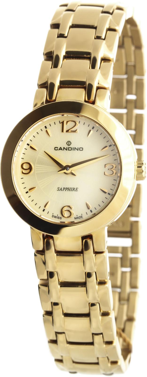 Candino Elegance C4501/2Наручные часы<br>Швейцарские часы Candino Elegance C4501/2Данная модель &amp;mdash; яркий представитель коллекции Elegance. Это женские часы. Материал корпуса часов &amp;mdash; сталь+золото. В этих часах используется сапфировое стекло. Часы выдерживают давление на глубине 30 м. Цвет циферблата - желтый. Циферблат часов содержит часы, минуты. Корпус часов в диаметре 26мм.<br><br>Пол: Женские<br>Страна-производитель: Швейцария<br>Механизм: Кварцевый<br>Материал корпуса: Сталь+Золото<br>Материал ремня/браслета: Сталь+Золото<br>Водозащита, диапазон: 20 - 100 м<br>Стекло: Сапфировое<br>Толщина корпуса: None<br>Стиль: Мода