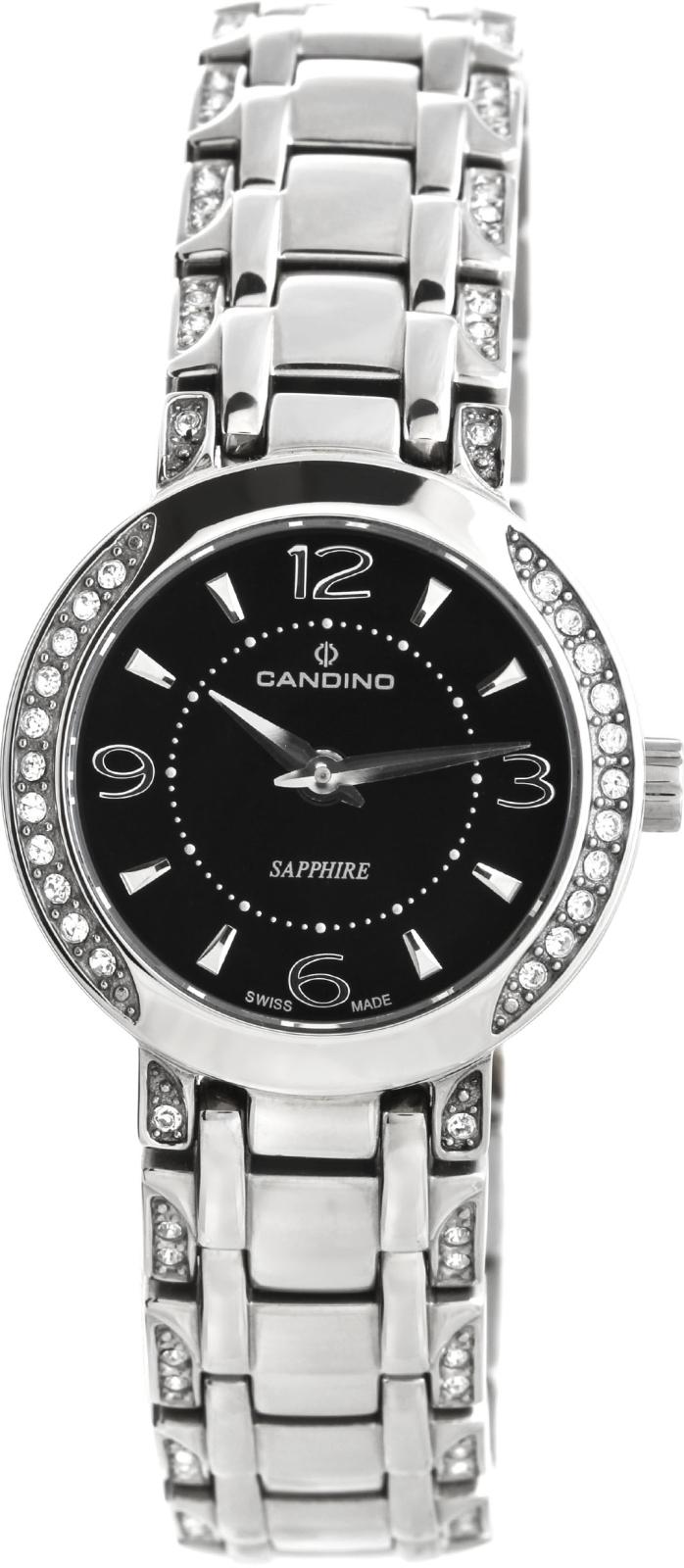 Candino Elegance C4502/2Наручные часы<br>Швейцарские часы Candino Elegance C4502/2Часы принадежат коллекции Elegance. Это женские часы. Материал корпуса часов — сталь. Стекло - сапфировое. Часы выдерживают давление на глубине 50 м. Цвет циферблата - черный. Циферблат содержит часы, минуты. Корпус часов в диаметре 26мм.<br><br>Пол: Женские<br>Страна-производитель: Швейцария<br>Механизм: Кварцевый<br>Материал корпуса: Сталь<br>Материал ремня/браслета: Сталь<br>Водозащита, диапазон: 20 - 100 м<br>Стекло: Сапфировое<br>Толщина корпуса: None<br>Стиль: Классика