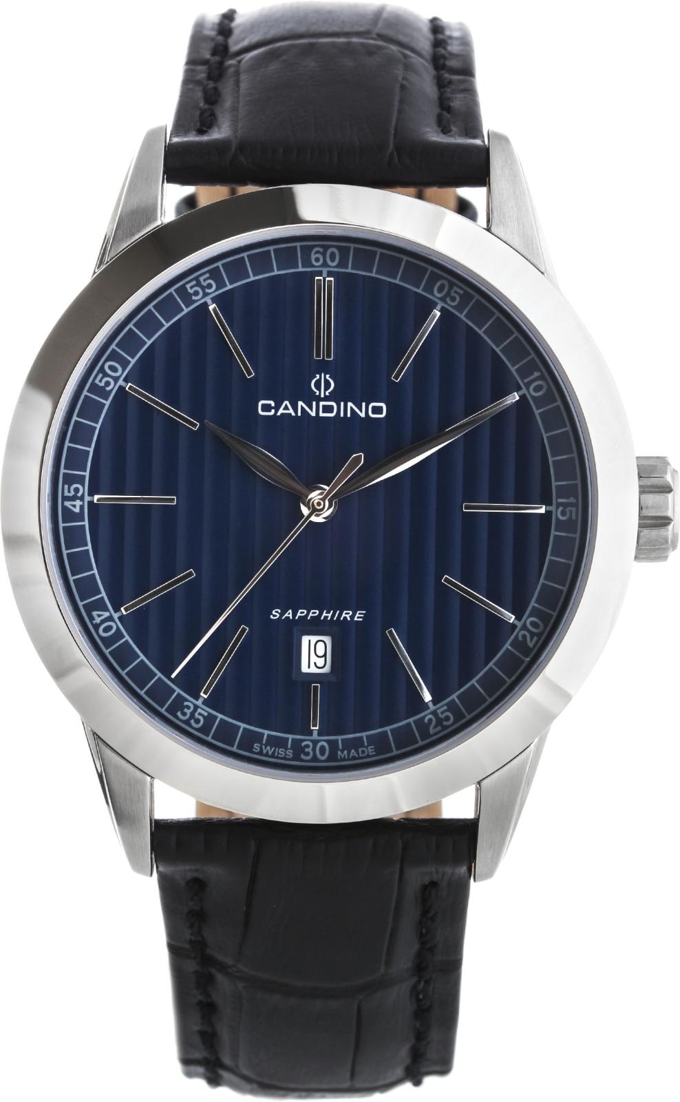 Candino Sport C4506/3Наручные часы<br>Швейцарские часы Candino Sport C4506/3<br><br>Пол: Мужские<br>Страна-производитель: Швейцария<br>Механизм: Кварцевый<br>Материал корпуса: Сталь<br>Материал ремня/браслета: Кожа<br>Водозащита, диапазон: 100 - 150 м<br>Стекло: Сапфировое<br>Толщина корпуса: 11 мм<br>Стиль: Классика