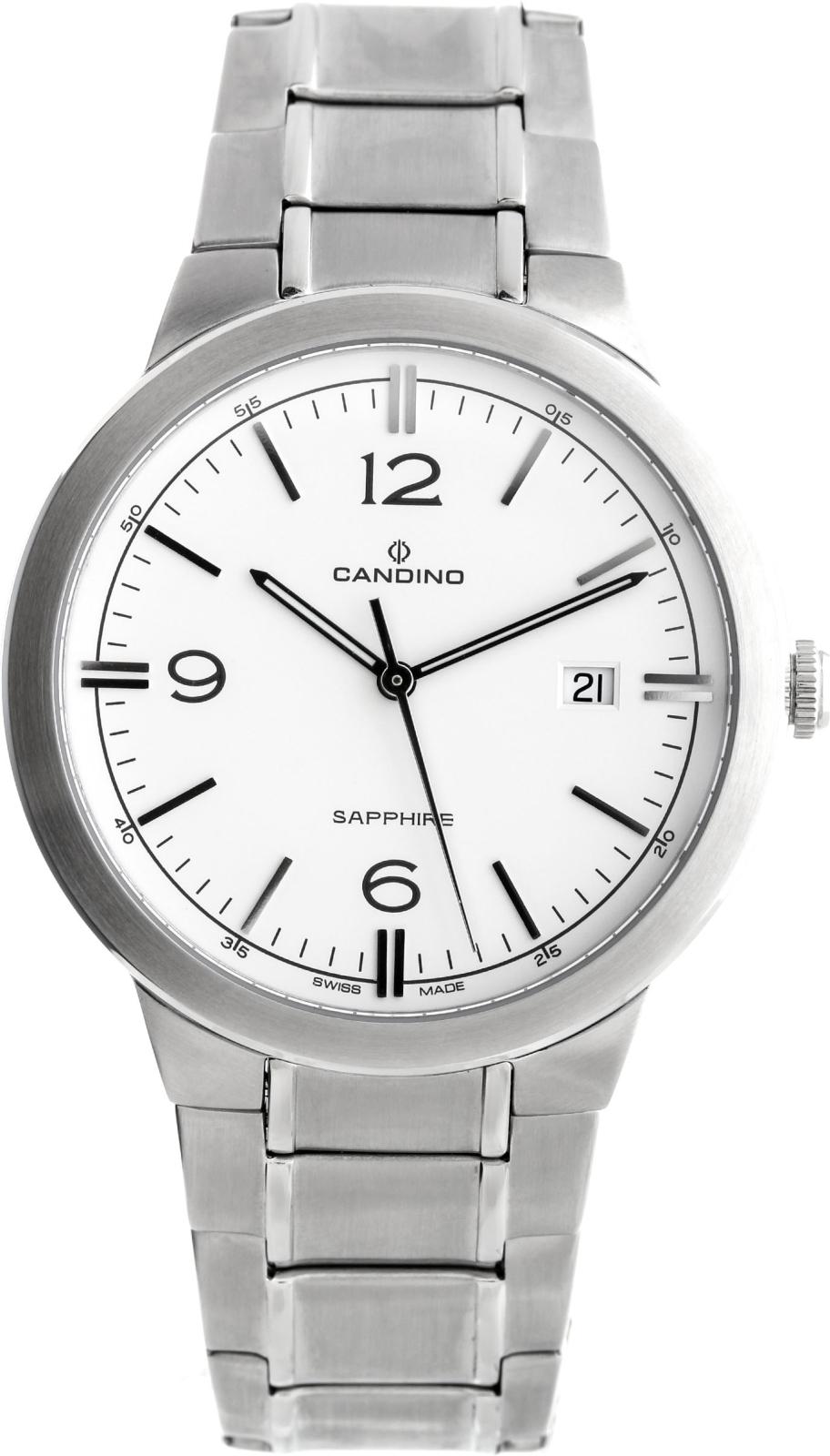 Candino Elegance C4510/1Наручные часы<br>Швейцарские часы Candino Elegance C4510/1<br><br>Для кого?: Мужские<br>Страна-производитель: Швейцария<br>Механизм: Кварцевый<br>Материал корпуса: Сталь<br>Материал ремня/браслета: Сталь<br>Водозащита, диапазон: 20 - 100 м<br>Стекло: Сапфировое<br>Толщина корпуса: None<br>Стиль: Классика