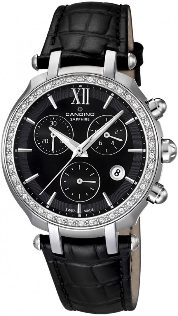 Candino Athletic Chic C4522/2Наручные часы<br>Швейцарские часы Candino Athletic Chic C4522/2Часы принадежат коллекции Athletic Chic. Это великолепные женские часы. Материал корпуса часов — сталь. Циферблат часов защищает сапфировое стекло. Водозащита - 100 м. Цвет циферблата - черный. Циферблат часов содержит часы, минуты, секунды. В данной модели используются следующие усложнения: дата, хронограф. Диаметр корпуса 36мм.<br><br>Пол: Женские<br>Страна-производитель: Швейцария<br>Механизм: Кварцевый<br>Материал корпуса: Сталь<br>Материал ремня/браслета: Кожа<br>Водозащита, диапазон: 100 - 150 м<br>Стекло: Сапфировое<br>Толщина корпуса: None<br>Стиль: Классика