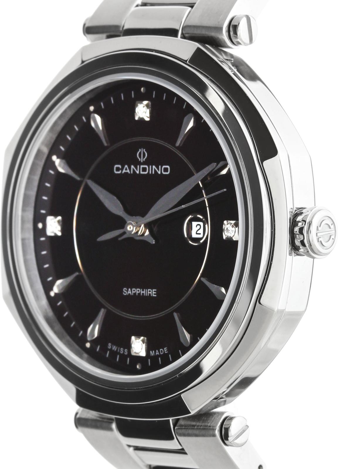 Candino Classic C4523/3Наручные часы<br>Швейцарские часы Candino Classic C4523/3<br><br>Пол: Женские<br>Страна-производитель: Швейцария<br>Механизм: Кварцевый<br>Материал корпуса: Сталь<br>Материал ремня/браслета: Сталь<br>Водозащита, диапазон: None<br>Стекло: Сапфировое<br>Толщина корпуса: None<br>Стиль: None