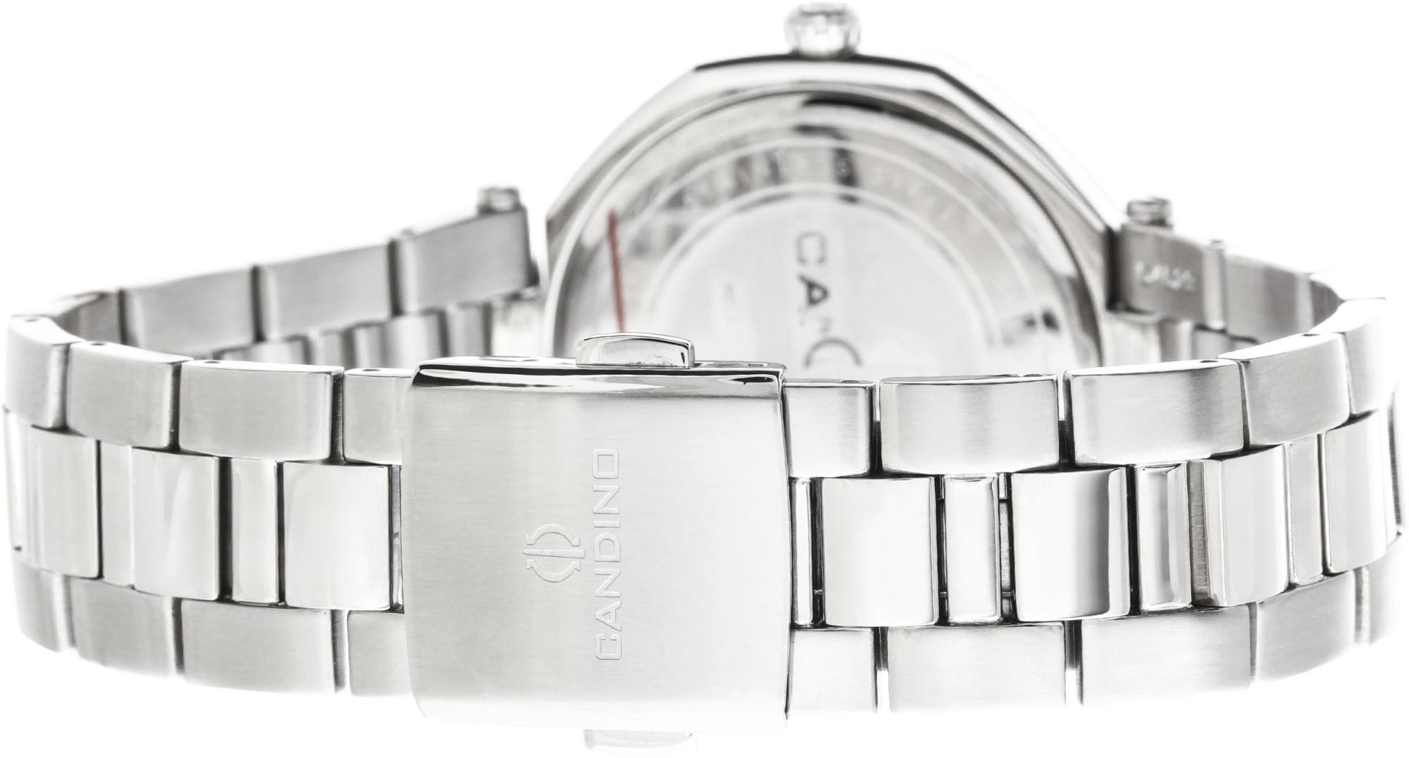 Candino Elegance C4523/4Наручные часы<br>Швейцарские часы Candino Elegance C4523/4<br><br>Пол: Женские<br>Страна-производитель: Швейцария<br>Механизм: Кварцевый<br>Материал корпуса: Сталь<br>Материал ремня/браслета: Сталь<br>Водозащита, диапазон: None<br>Стекло: Сапфировое<br>Толщина корпуса: None<br>Стиль: None