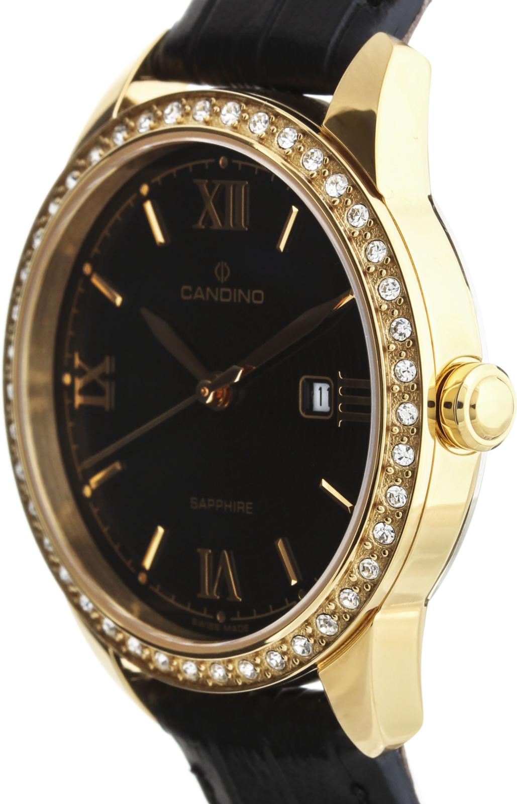 Candino Sportive C4529/3Наручные часы<br>Швейцарские часы Candino Sportive C4529/3<br><br>Пол: Женские<br>Страна-производитель: Швейцария<br>Механизм: Кварцевый<br>Материал корпуса: Сталь<br>Материал ремня/браслета: Кожа<br>Водозащита, диапазон: 20 - 100 м<br>Стекло: Сапфировое<br>Толщина корпуса: 8 мм<br>Стиль: Спорт