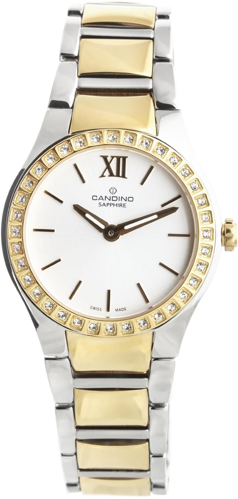 Candino Elegance C4538/1Наручные часы<br>Швейцарские часы Candino Elegance C4538/1Часы входят в модельный ряд коллекции Elegance. Это модные женские часы. Материал корпуса часов — сталь+золото. Стекло - сапфировое. Водозащита - 30 м. Цвет циферблата - белый. Циферблат содержит часы, минуты, секунды. Диаметр корпуса часов составляет 30мм.<br><br>Пол: Женские<br>Страна-производитель: Швейцария<br>Механизм: Кварцевый<br>Материал корпуса: Сталь+Золото<br>Материал ремня/браслета: Сталь+Золото<br>Водозащита, диапазон: 20 - 100 м<br>Стекло: Сапфировое<br>Толщина корпуса: None<br>Стиль: Мода