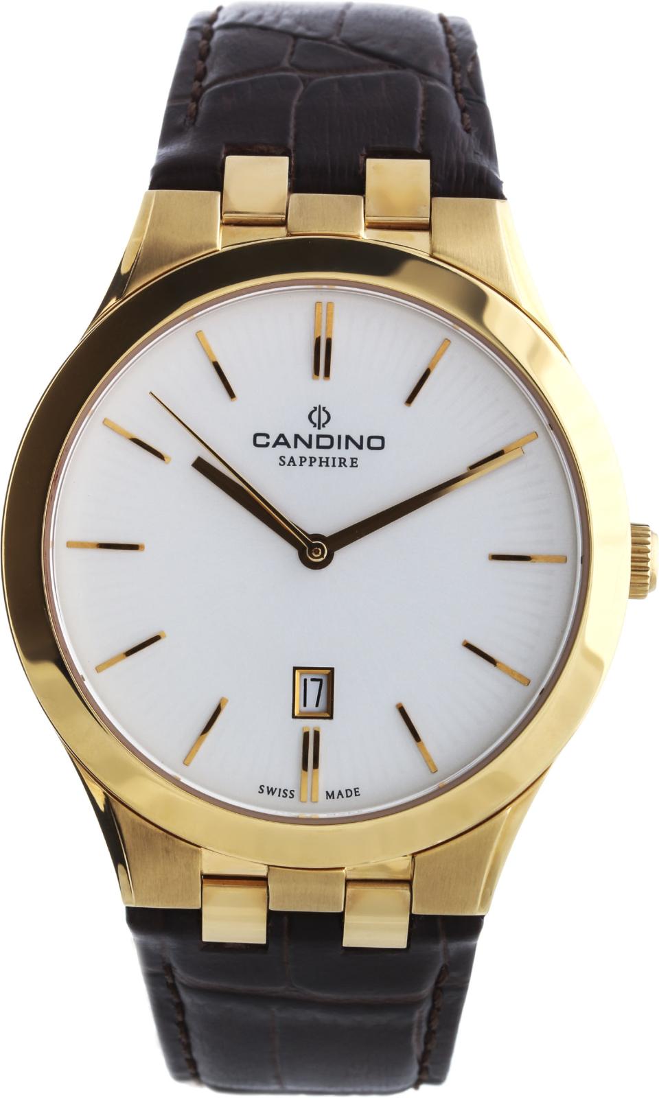 Candino Classic C4542/1Наручные часы<br>Швейцарские часы Candino Classic C4542/1<br><br>Пол: Мужские<br>Страна-производитель: Швейцария<br>Механизм: Кварцевый<br>Материал корпуса: Сталь<br>Материал ремня/браслета: Кожа<br>Водозащита, диапазон: 20 - 100 м<br>Стекло: Сапфировое<br>Толщина корпуса: None<br>Стиль: Классика