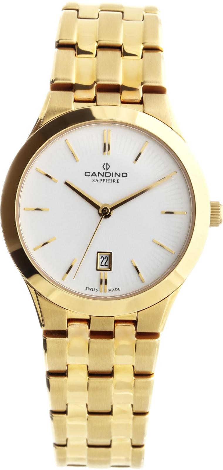 Candino Classic C4545/1Наручные часы<br>Швейцарские часы Candino Classic C4545/1<br><br>Для кого?: Женские<br>Страна-производитель: Швейцария<br>Механизм: Кварцевый<br>Материал корпуса: Сталь<br>Материал ремня/браслета: Сталь<br>Водозащита, диапазон: 20 - 100 м<br>Стекло: Сапфировое<br>Толщина корпуса: 7 мм<br>Стиль: Классика