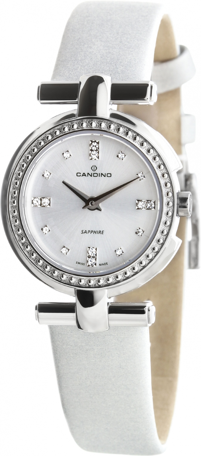 Candino Elegance C4560/1Наручные часы<br>Швейцарские часы Candino Elegance C4560/1<br><br>Для кого?: Женские<br>Страна-производитель: Швейцария<br>Механизм: Кварцевый<br>Материал корпуса: Сталь<br>Материал ремня/браслета: Текстиль<br>Водозащита, диапазон: 20 - 100 м<br>Стекло: Сапфировое<br>Толщина корпуса: 7 мм<br>Стиль: Классика