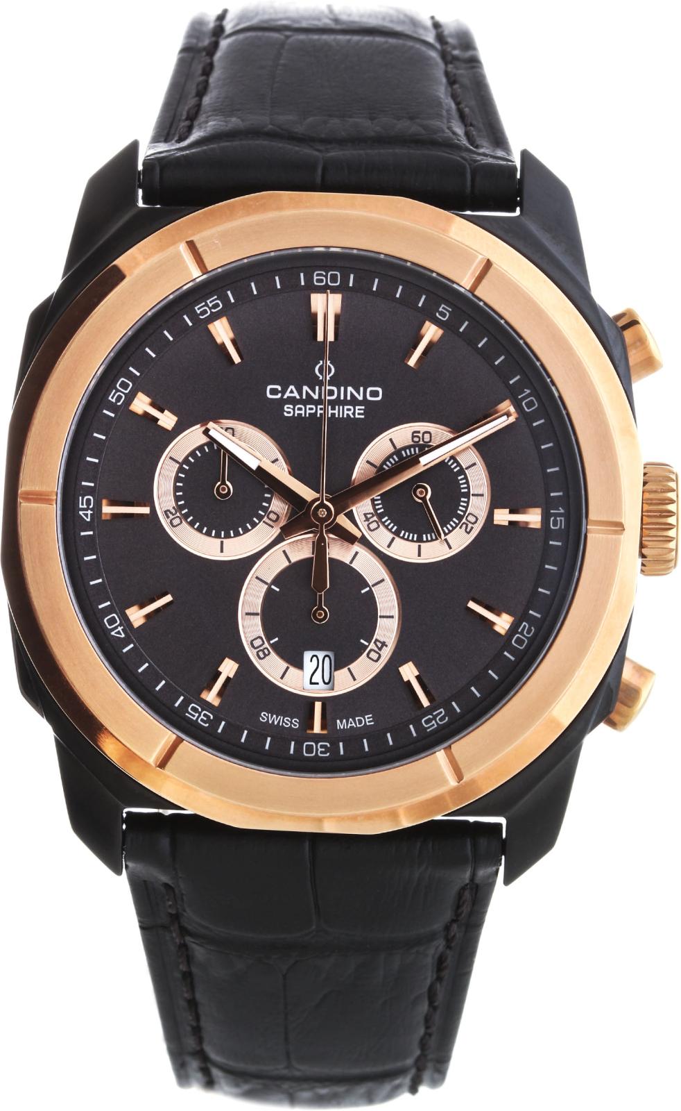 Candino Elegance C4584/1Наручные часы<br>Швейцарские часы Candino Elegance C4584/1<br><br>Пол: Мужские<br>Страна-производитель: Швейцария<br>Механизм: Кварцевый<br>Материал корпуса: Сталь<br>Материал ремня/браслета: Кожа<br>Водозащита, диапазон: 100 - 150 м<br>Стекло: Сапфировое<br>Толщина корпуса: None<br>Стиль: Классика